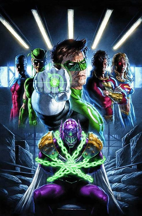 Green Lantern and Justice League by Mauro Casciolli
