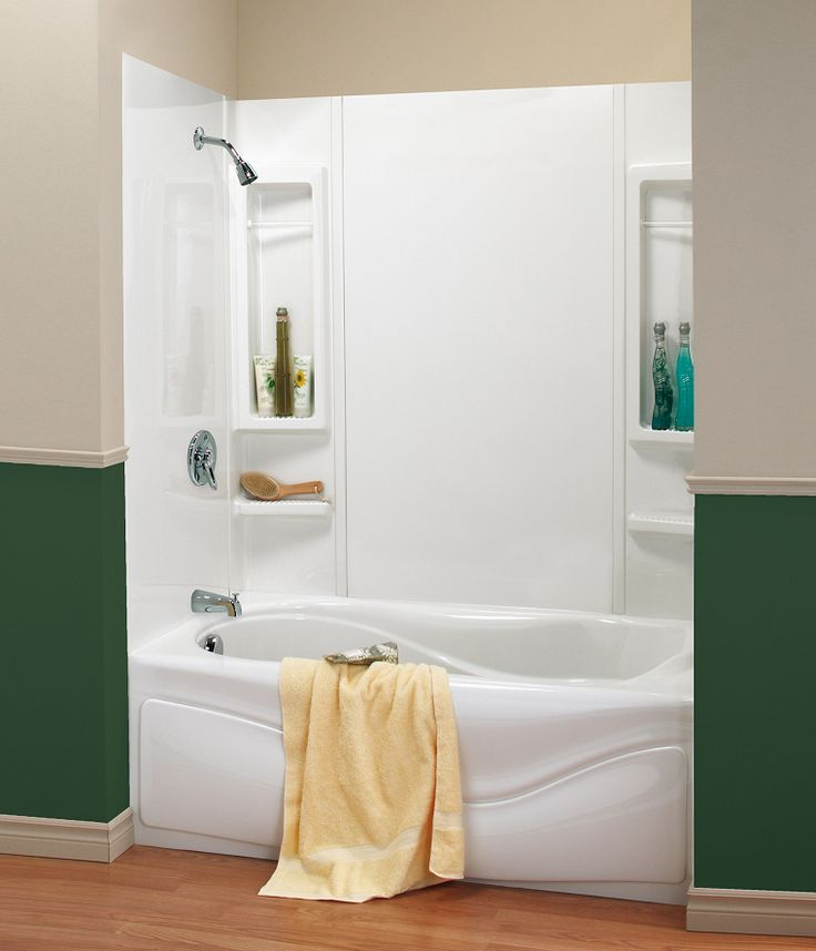 MAAX Bathtub Wall Kit: Max Inc. 5 Piece White Wall Kit Is Constructed To  Provide Convenient Use And Hassle Free Set Up. Kit Contains 2 Towel Bars  And 6 ...