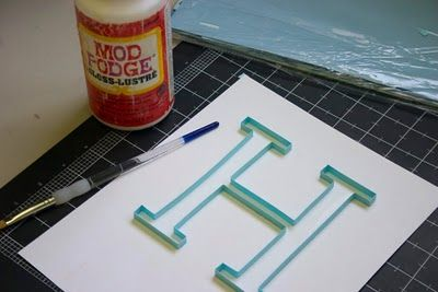 Monogrammed Quill Letters!  I so want to do this for my granddaughters!  It takes a little time, but well worth the effort! I would use a deeper frame with glass over the front to protect the paper.  Enjoy!