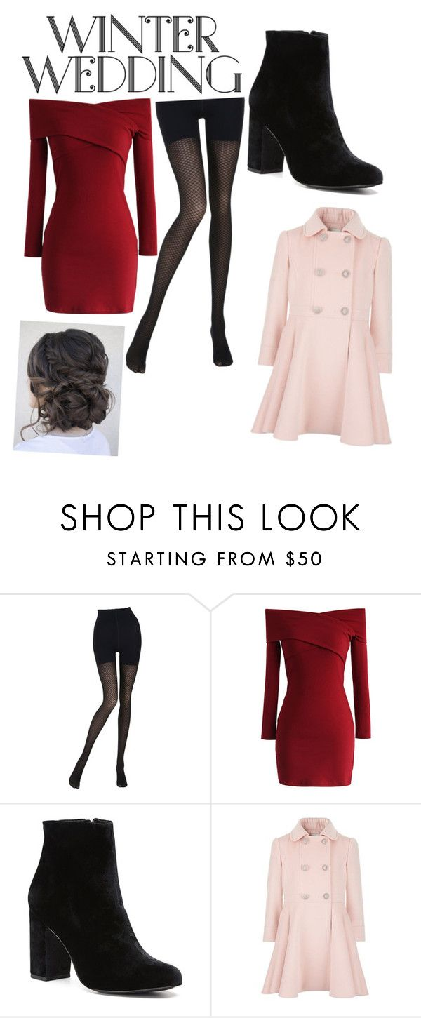 """""""Winter wedding"""" by marndt433 on Polyvore featuring Wolford, Chicwish and Witchery"""