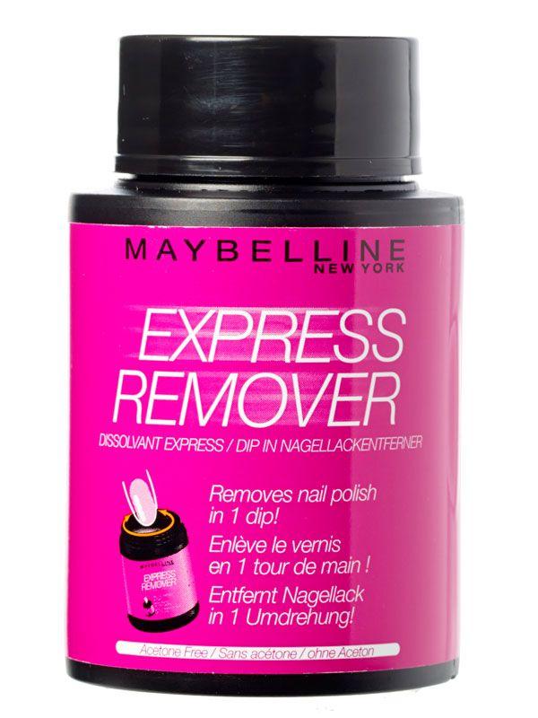 Maybelline Express remover: sneller nagellak verwijderen kan niet.