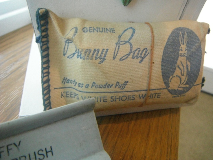 Bunny Bag for White Buck Shoes-I remember pounding my bucks with the powder trying to keep them white.