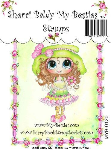 "Sherri Baldy My Besties ""Hattie Buttons"" Clear Stamp"