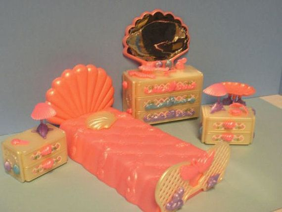 LADY LOVELY LOCKS complete Bedroom Set Mattel 1987 by aquarius247