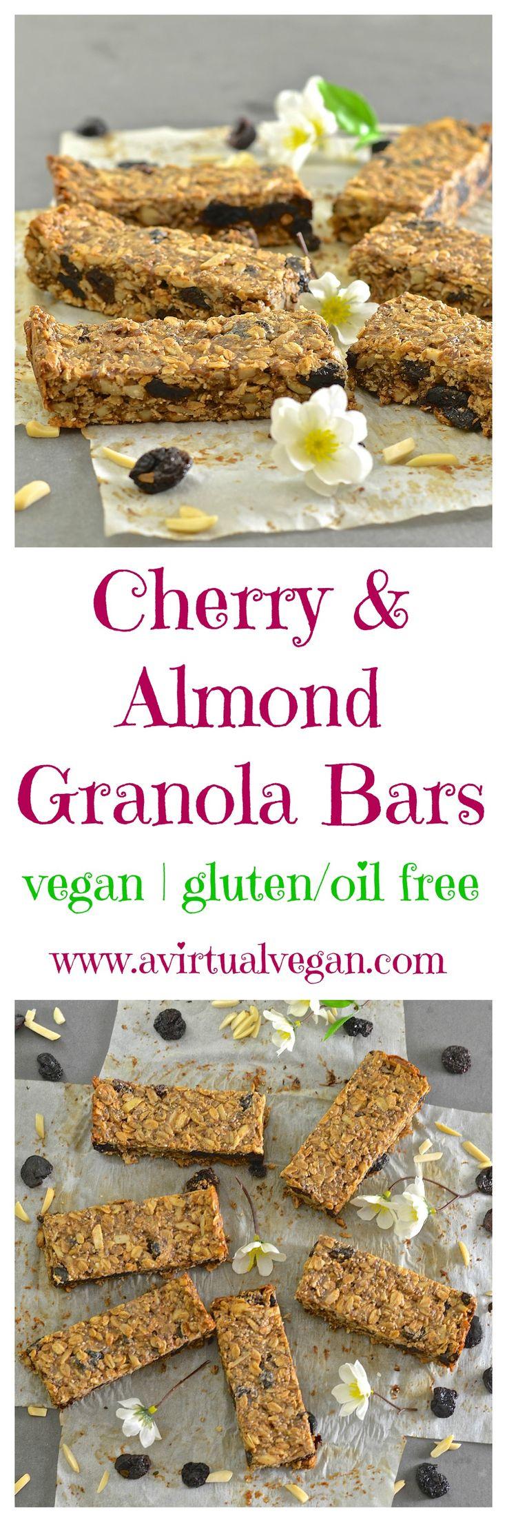 Cherry Almond Granola Bars | Recipe | The go, The o'jays ...