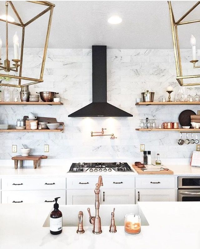 Our friend @stepheniewatts has the perfect #antidote to our #candyhangover this morning. Loving that rose gold hardware and black range hood!