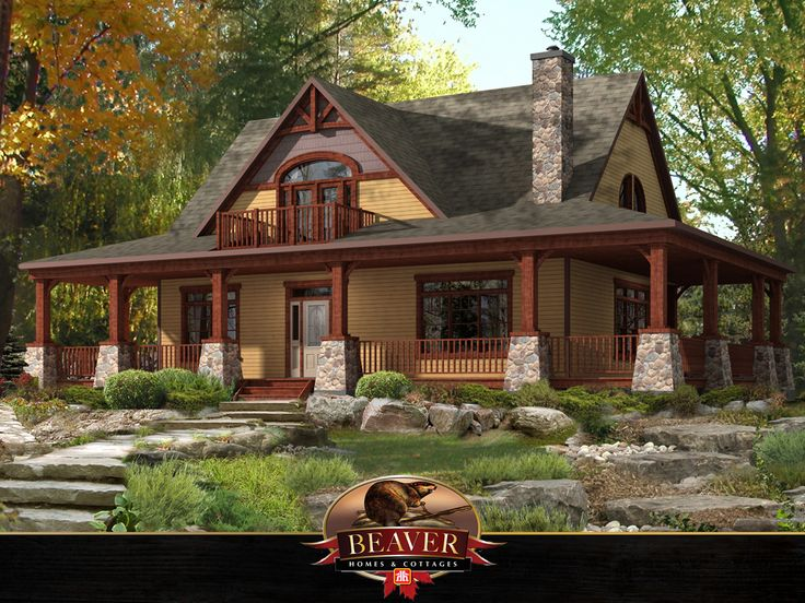 The perfect cozy cabin! Take a virtual tour of Beaver Homes and Cottages Limberlost model http://bit.ly/2BkV2ow