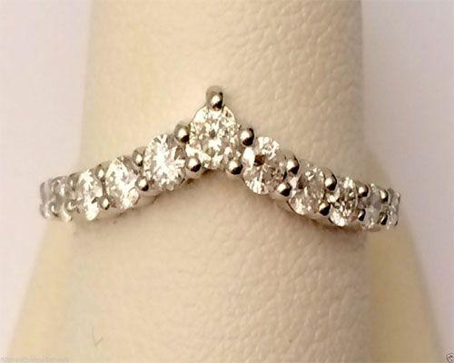 14k White Gold Channel 11 Diamond Solitaire Wrap Ring Enhancer Contour Chevron Band by RG&D...  #gold #diamonds #ringguard #wrap #enhancer #fashion #jewelery #love #gift #ringjacket #engagement #wedding #bridal #engaged #whitegold #yellowgold #online #shopping #jewelry #pintrest #follow #richmondgoldanddiamonds