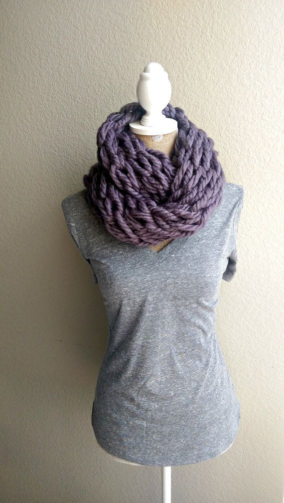 Super Chunky Arm Knit Scarf Arm Knit Infinity by TheSnugglery