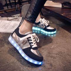 Корейские мужчины и женщины весной 7 цвета светоизлучающего LED лампы USB зарядной обуви и досуг обувь маскировочной обувь светящегося флуоресцентной обувь прилив