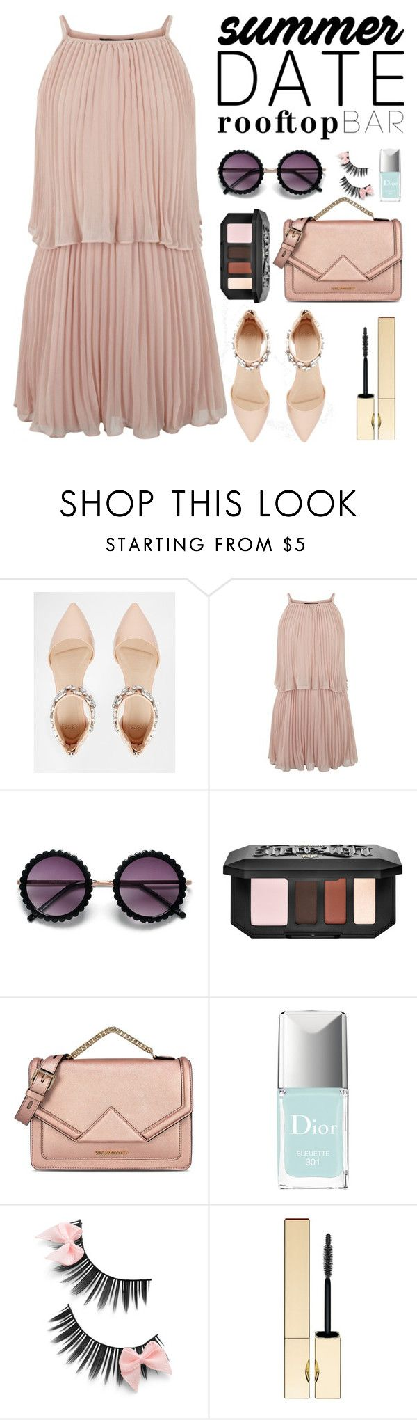 """""""Summer Date"""" by ante-panda ❤ liked on Polyvore featuring ASOS, New Look, Kat Von D, Karl Lagerfeld, Christian Dior and Clarins"""