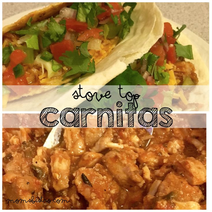 Pork Tacos aka Carnitas are full of flavor, and this stove-top version only takes about 2 hours. This recipe can just as easily be made in the crockpot if you need a quick fix dinner. Toss the ing…