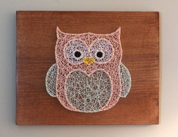Hey, I found this really awesome Etsy listing at https://www.etsy.com/listing/235656736/owl-string-art-handmade
