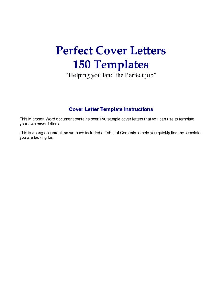 contents of a cover letters