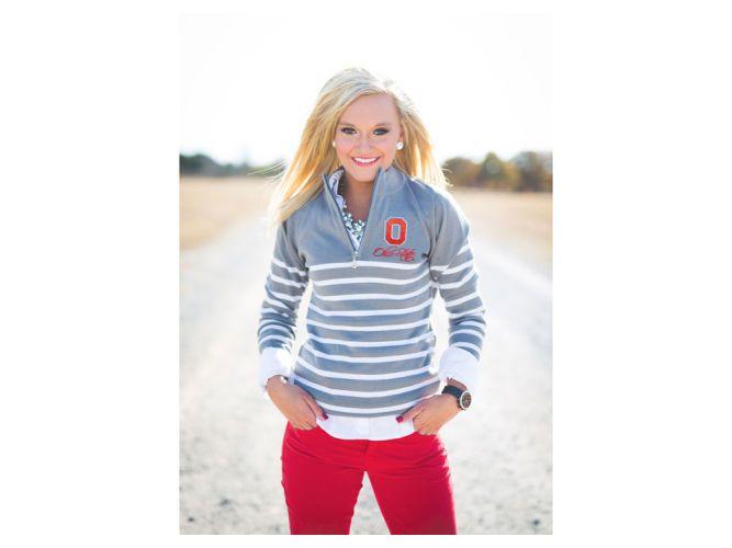 Ohio State Buckeyes NCAA Women's 1/4 Zip Sweater