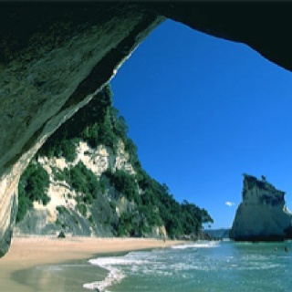 Cathedral Cove is a major natural attraction of the Coromandel Peninsula.
