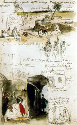 Moroccan Sketchbook by Eugene Delacroix <-- beautiful and informative; what a sketchbook should be for an artist