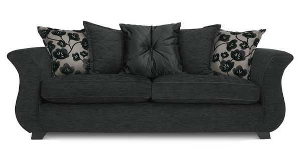 4 Seater Plain Pillow Back Sofa Felicity