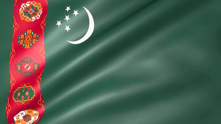 Turkmenistan Animated Flag