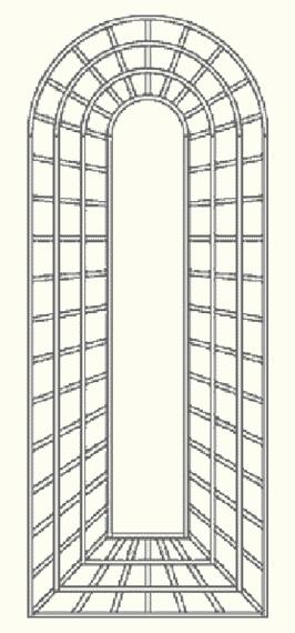 Grafik von Wandgitter R9/7