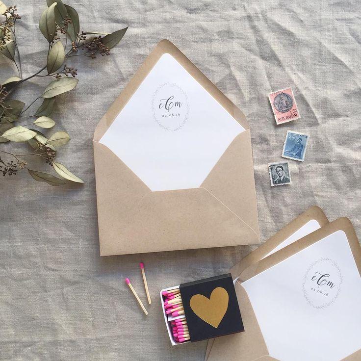 monogram wedding envelope seals sticker%0A simple and sweet monogram envelope liner   Smitten on Paper   The Wedding  Invitation   Pinterest   Envelopes