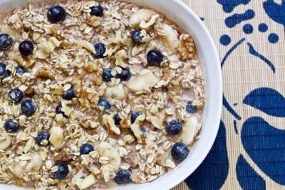 Classic Vegan Overnight Oats: My fav no-cook oatmeal breakfast packed with whole grains, protein, and healthy fats.Note: Image is of the link(Blueberry Banana Pie Vegan Overnight Oats, http://ohsheglows.com/recipage/?recipe_id=6002037)
