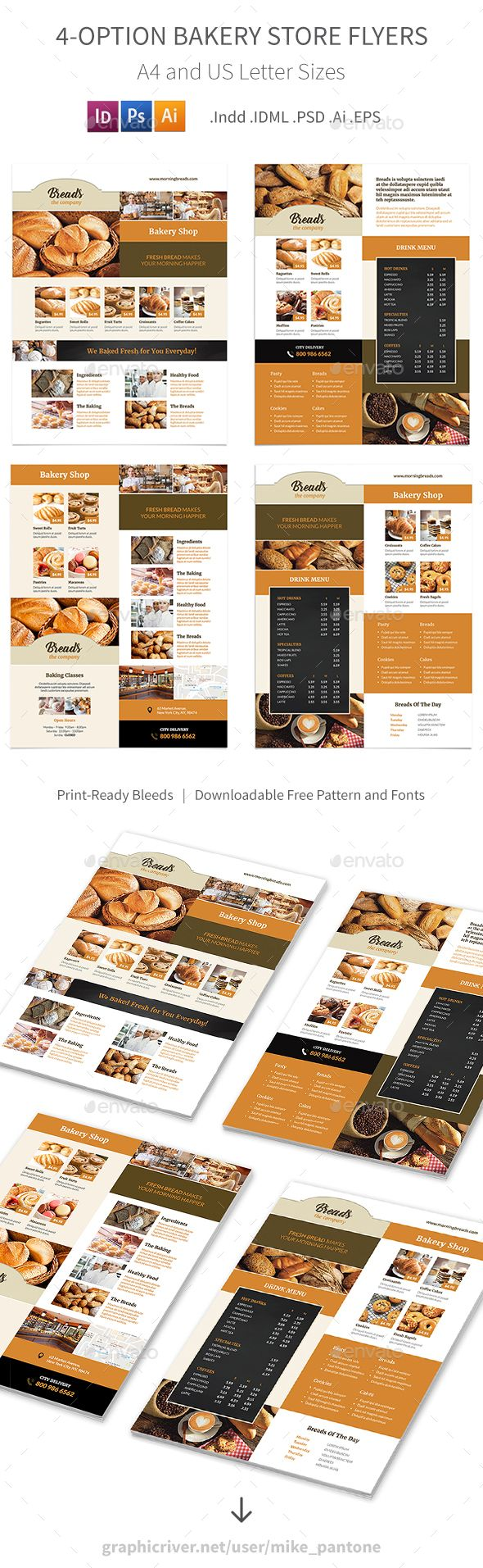 Bakery Store Flyers u2013 4 Options 32