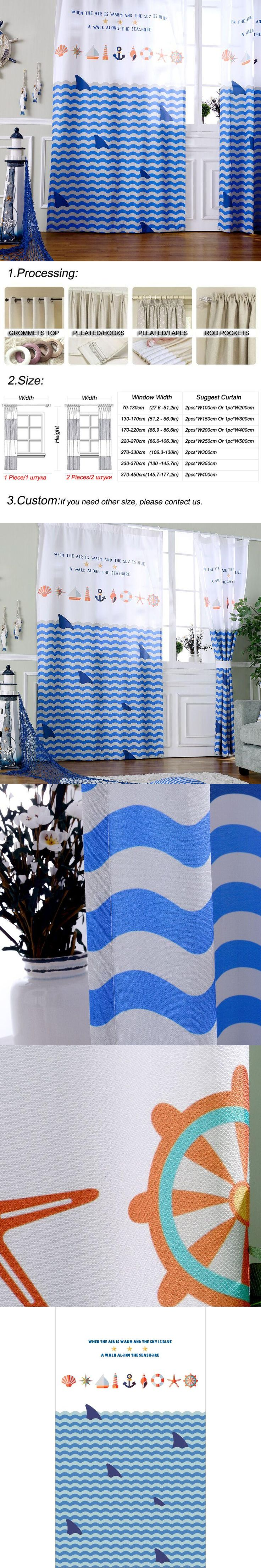 Blackout Curtains For Bedroom Boys Window Panels Shark Mediterranean Blind Fabric Ready Made Drapery Patterns Children Blind