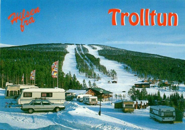 Oppland fylke Gudbrandsdalen Dovre kommune Dombås Trolltun,Camping og skianlegg 1970-tallet