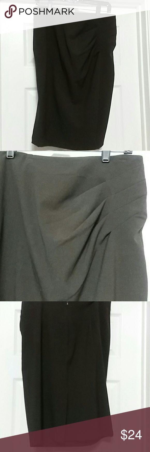 Pencil skirt Brown pencil skirt with pleated waist detail. Back zip and kick pleat Skirts Pencil