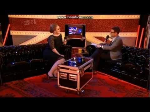 Adele - Interview after The Brit Awards 2011. She is perfect. And a fan of Mumford & Sons. Fanatic.