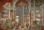 Picture Gallery with Views of Modern Rome 1757  by Giovanni Paolo Pannini