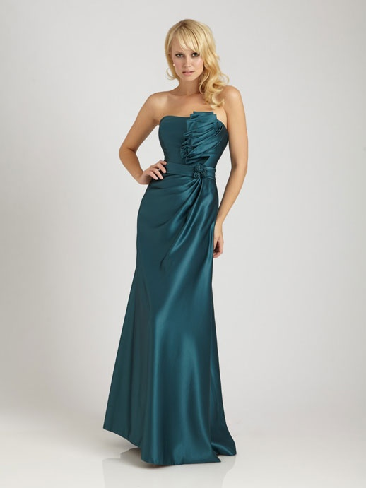 floor length bridesmaid gowns: Satin Bridesmaid Dresses, Allure Bridesmaid, Wedding Parties Dresses, Prom Dress, Allure Bridal, Strapless Bridesmaid Dresses, Bridesmaid Gowns, Blue Bridesmaid Dresses, Wedding Bridesmaid