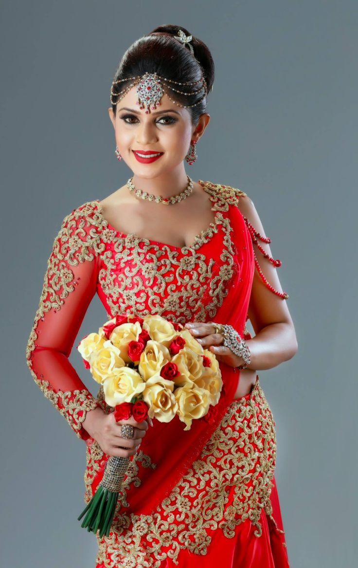 Sri Lankan bride Bridal dresses, Bridesmaid saree