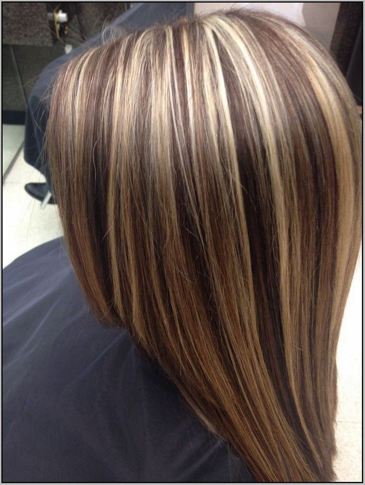 Brown Hair With Chunky Blonde And Auburn Highlights