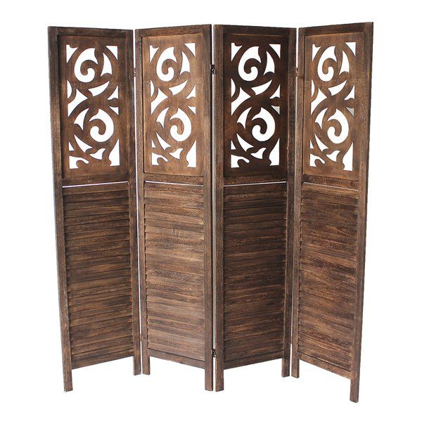 This is the ideal solution for partitioning your home or office. Designed with ancient eastern engineering, this 4-panel room divider with triple hinge offers both privacy and versatility. This highly portable room divider is crafted with rich pine wood and exquisitely detailed top-panel and bottom wood slat paneling that will match any motif.