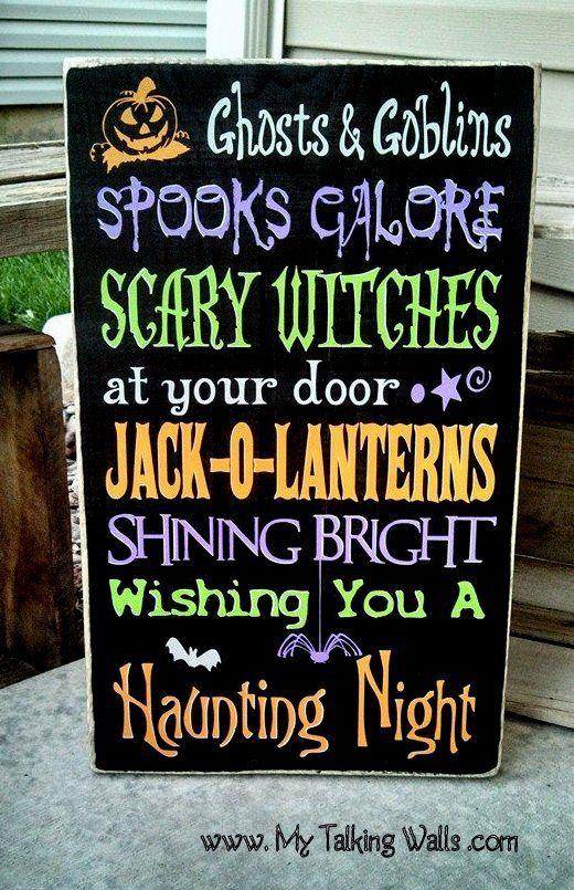 Halloween Sign #halloweencraft #halloweenvinyllettering #mytalkingwalls mytalkingwalls@yahoo.com
