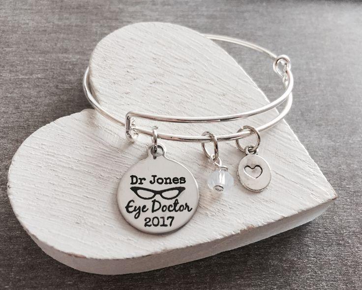 Customized, Optometrist, Eye Doctor Jewelry, Optometry Jewelry, Eye Doctor, Vision Doctor, Doctor, Eye Glasses, Silver Bracelet, Gifts by SAjolie, $27.95 USD
