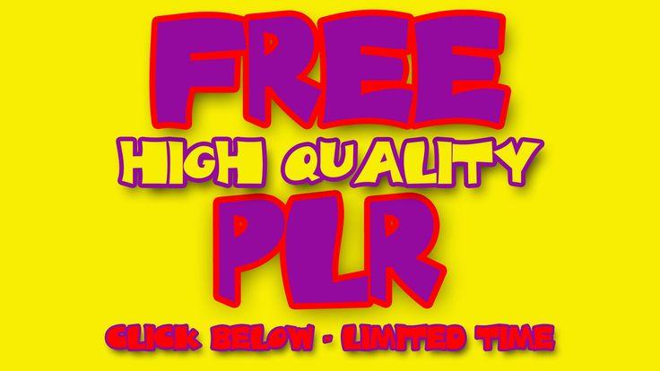 FREE PLR Packs from PLR GODS
