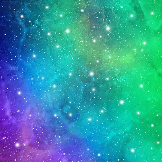 Green Cosmic Background Instant Download Outer Space Etsy Outer Space Pictures Galaxy Background Space Pictures