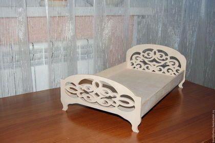 Кукольная кроватка двуспальная.Заготовка для декупажа и росписи.