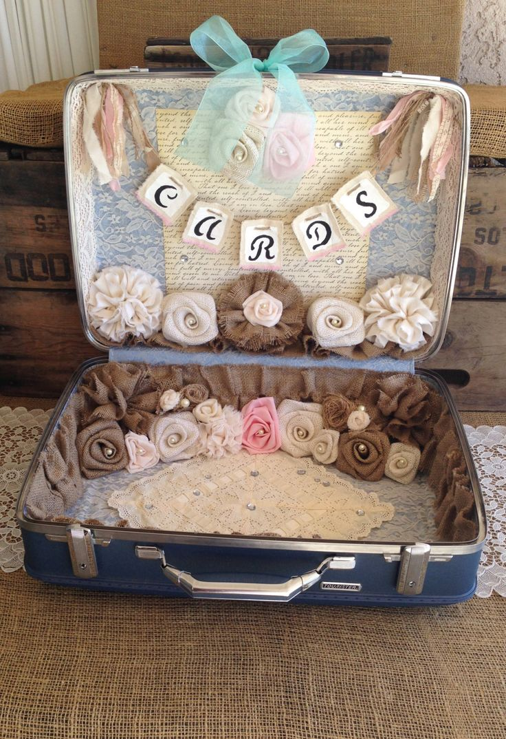 66 best Wedding Card Suitcase Holders images on Pinterest ...