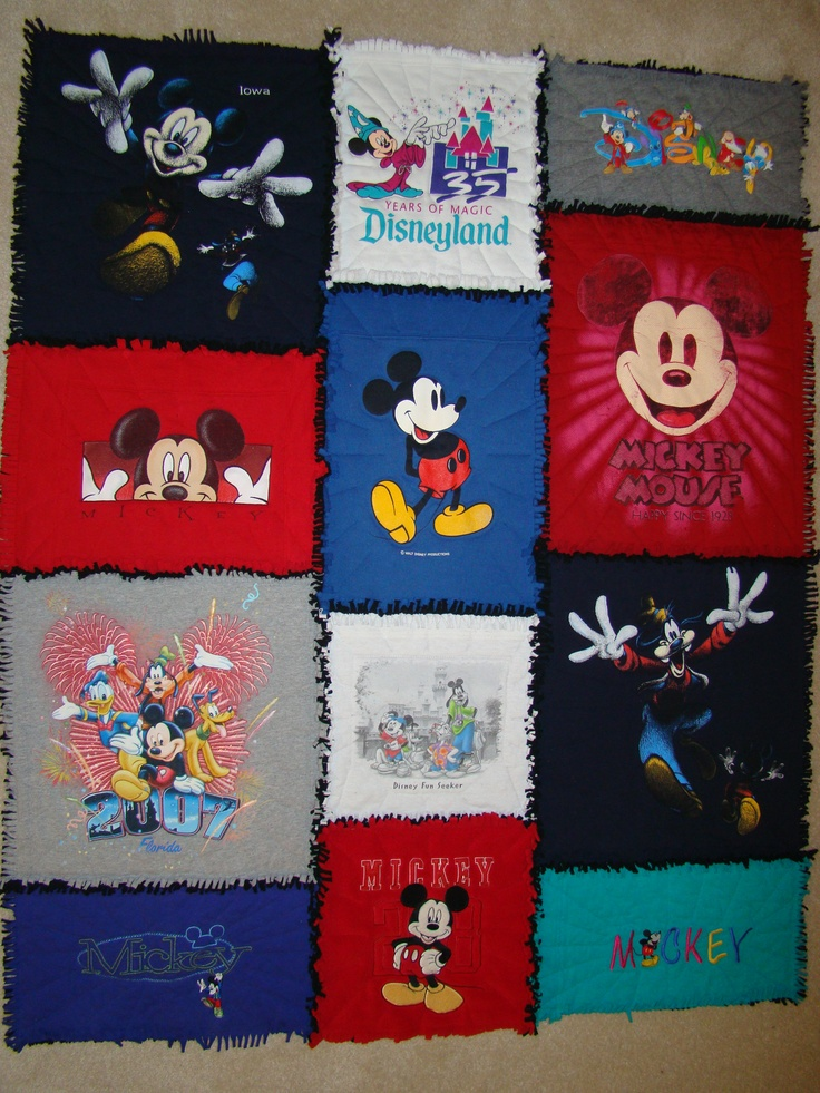 Mickey Mouse Rag Throw, give new life to your T-Shirt Collection