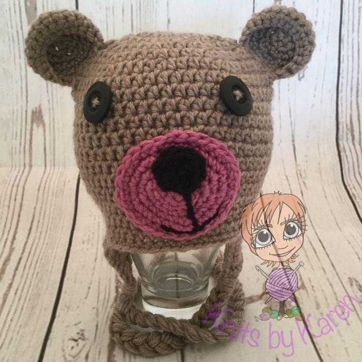 Teddy Bear Hat for Newborn Baby Girl