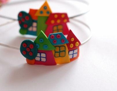 casitas: Fimo 2, Fimo, Felt Felt, Roof Houses, Diadem, Fimo Bracelets, Fimopolym Clay, Polymer Clay, Con Google
