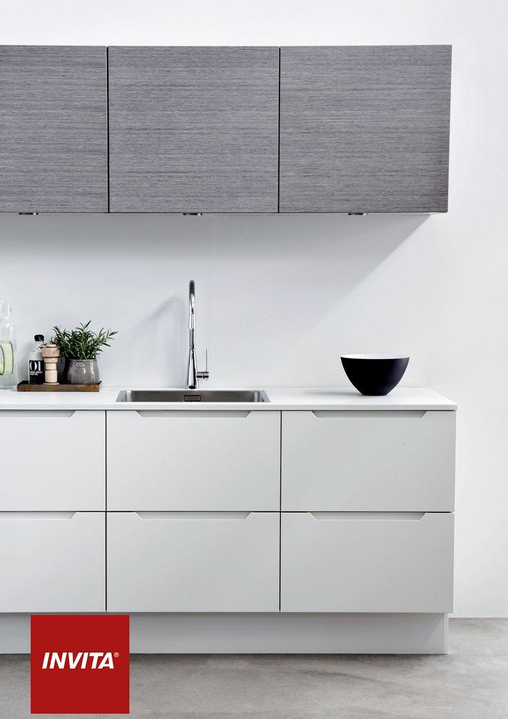Urban har samme fordele som det grebsløse køkken: Det er stilrent, og der er ikke greb, der stikker ud og tager plads op.