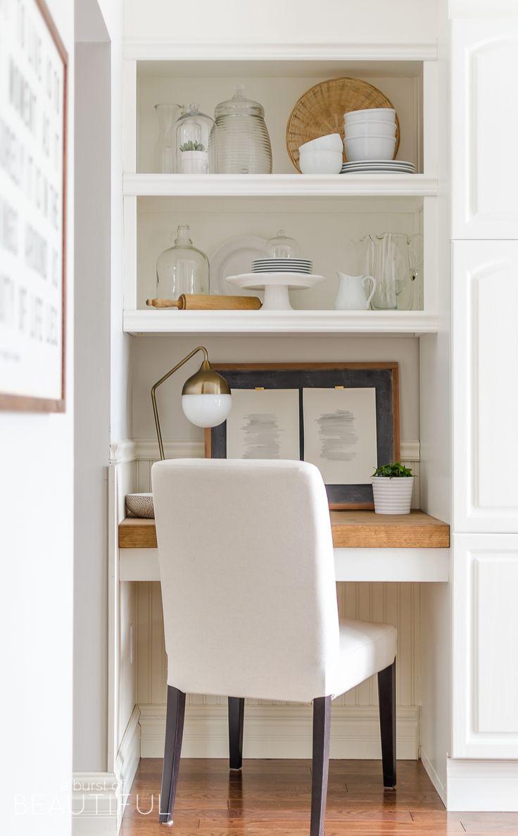 Diy floating desk with storage floating shelves
