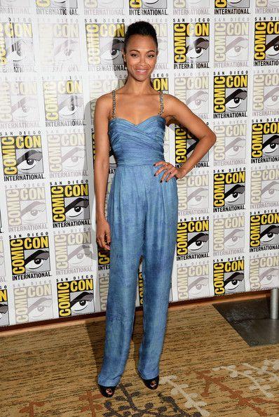 Zoe Saldana V Neck Dress Women Style Women Style ...