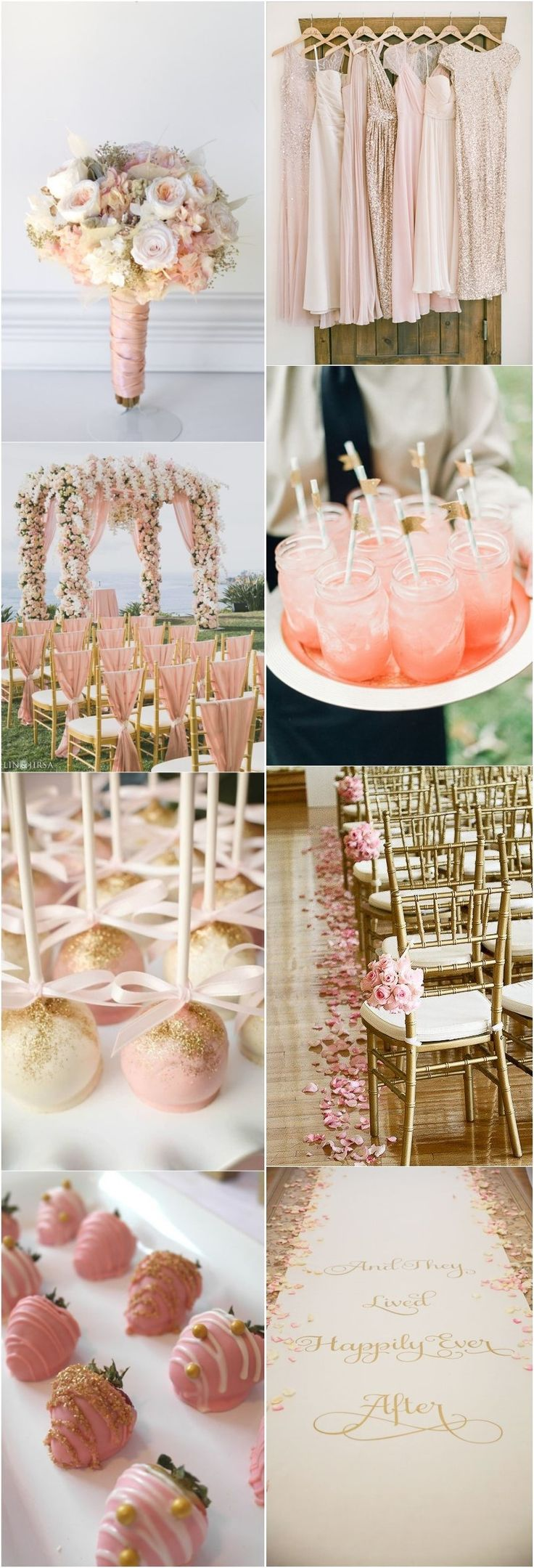 Wedding Colors » 21 Totally Elegant Pink and Gold Wedding Color Ideas » ❤️ More: http://www.weddinginclude.com/2017/07/totally-elegant-pink-and-gold-wedding-color-ideas/