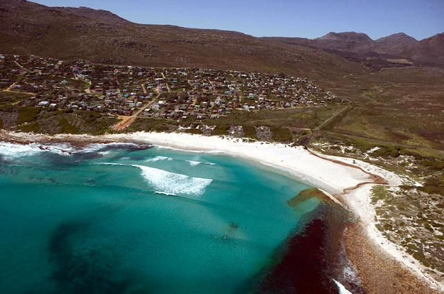Self catering accommodation, Scarborough, Cape Town  Scarborough beach birds eye view  http://www.capepointroute.co.za/moreinfoAccommodation.php?aID=493